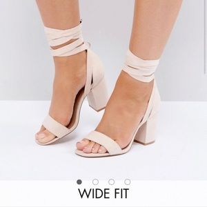 ASOS Fit Howling Tie Leg Block Heel